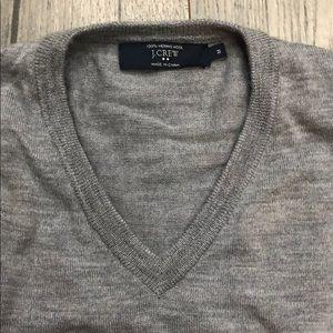 J. Crew gray v-neck sweater